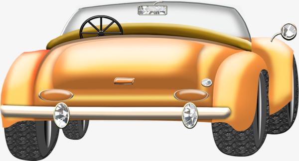 Vintage classic car cartoon. Back clipart rear
