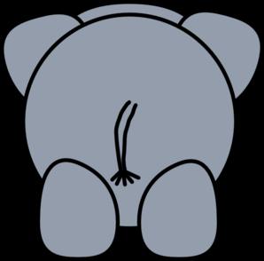 Back clipart rear. Elephant clip art at