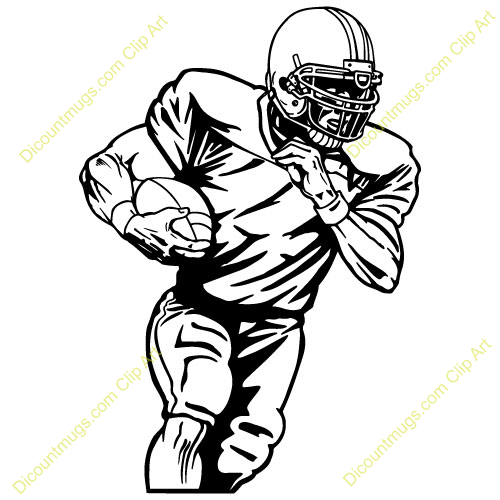 Back clipart rear. Football player free collection
