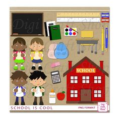 Back clipart school. To raster collection digital