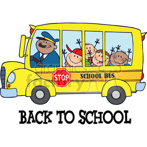 Back clipart school bus. Royalty free illustration of
