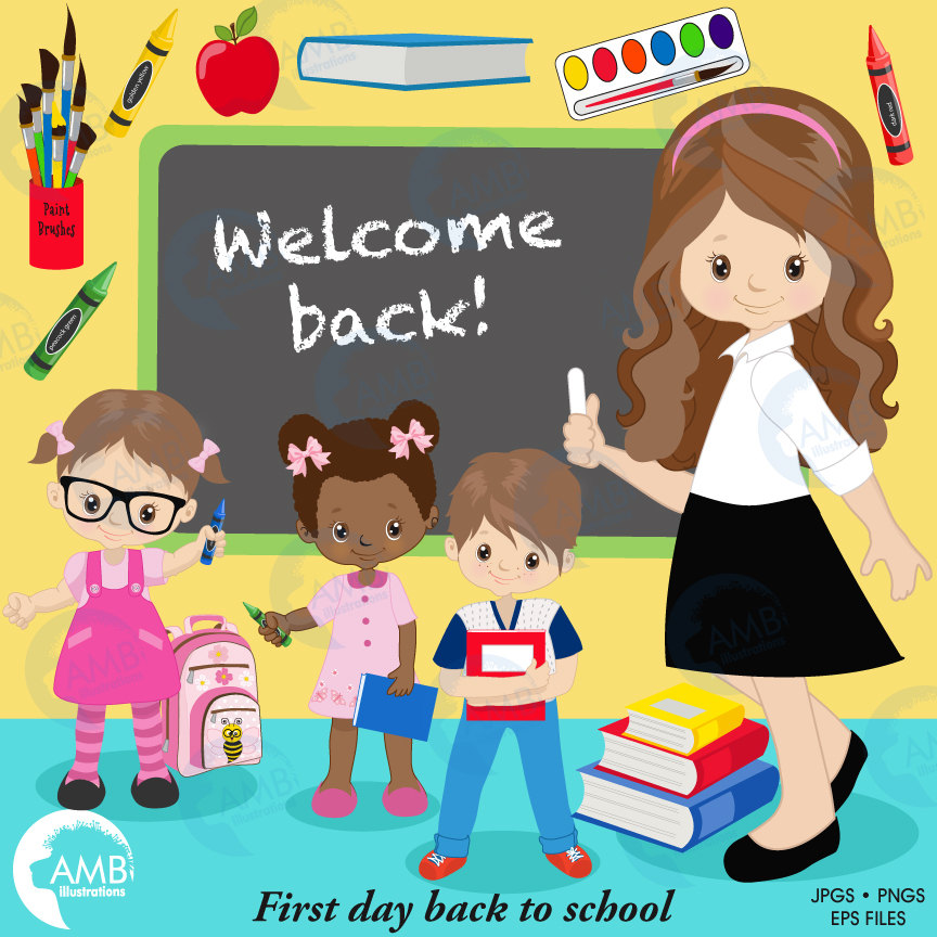 Crayons clipart school. Back to classroom teacher