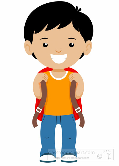 School little boy smiling. Back clipart student