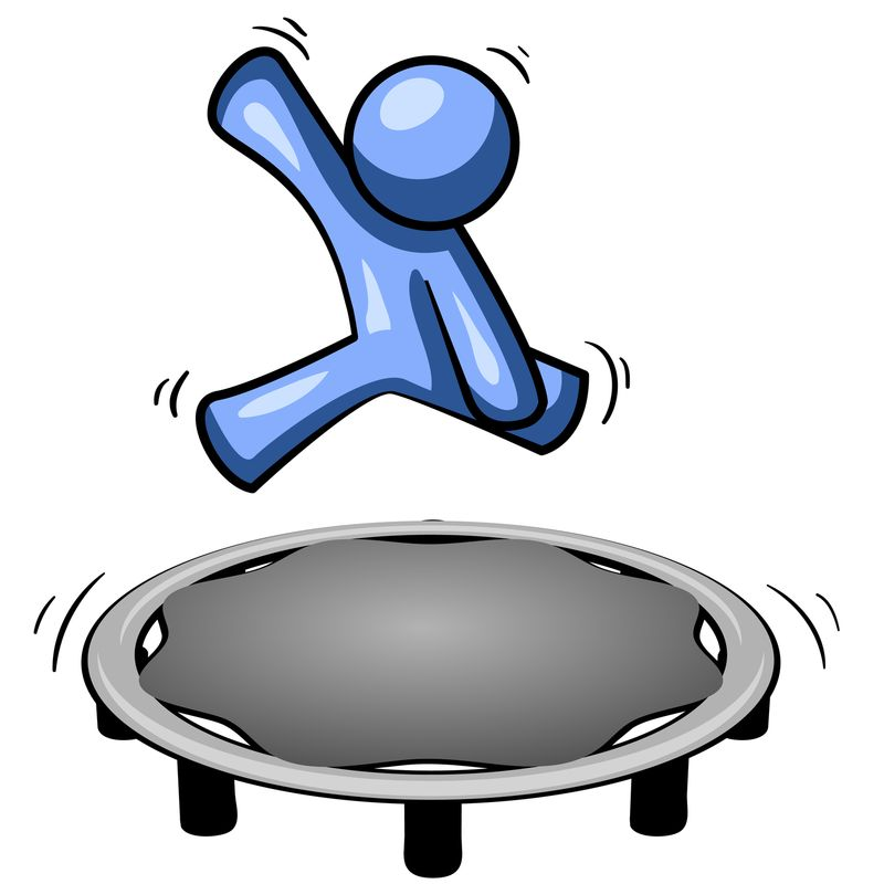 Back clipart success. Career partners bouncing the