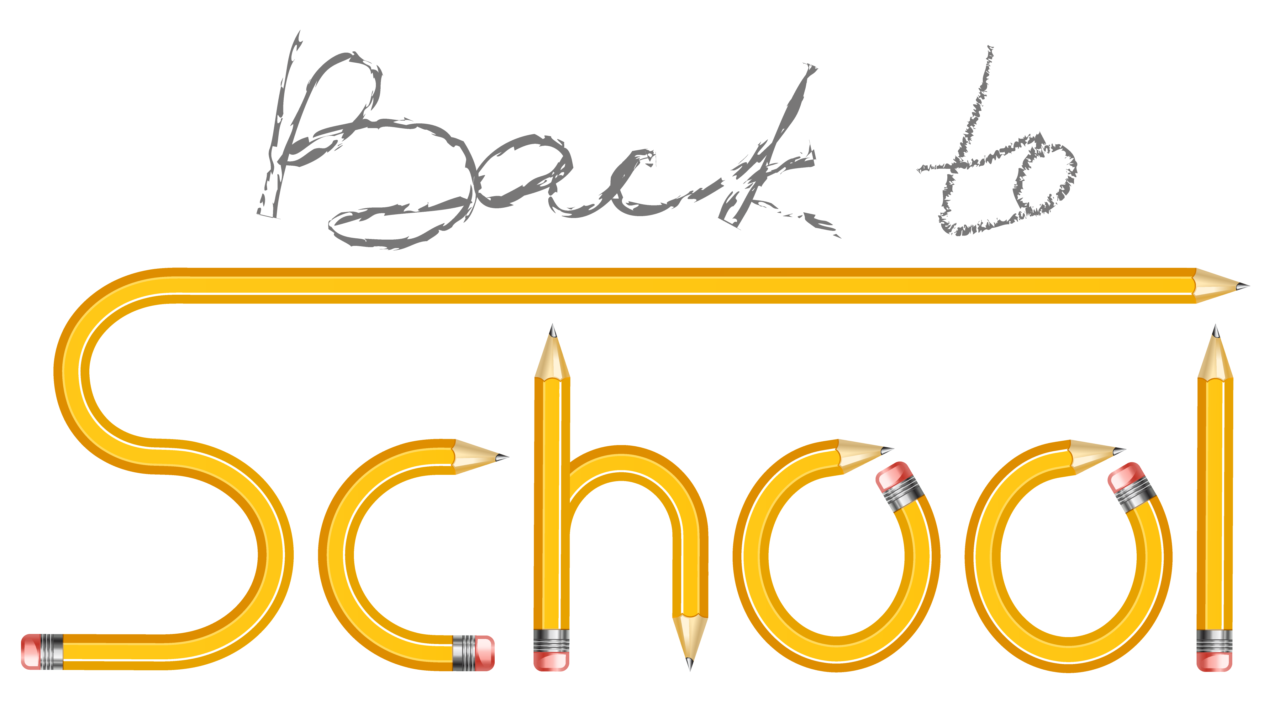 Back clipart transparent. To school with pencils