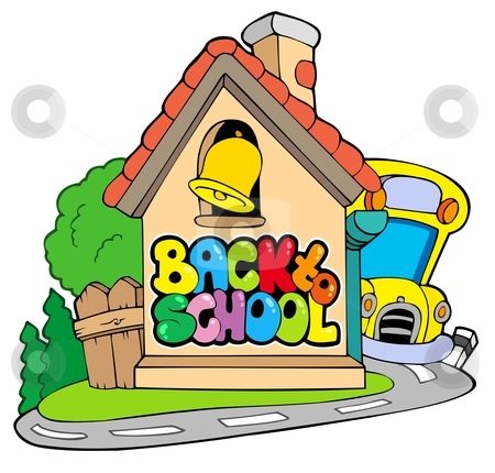 To school theme stock. Back clipart vector