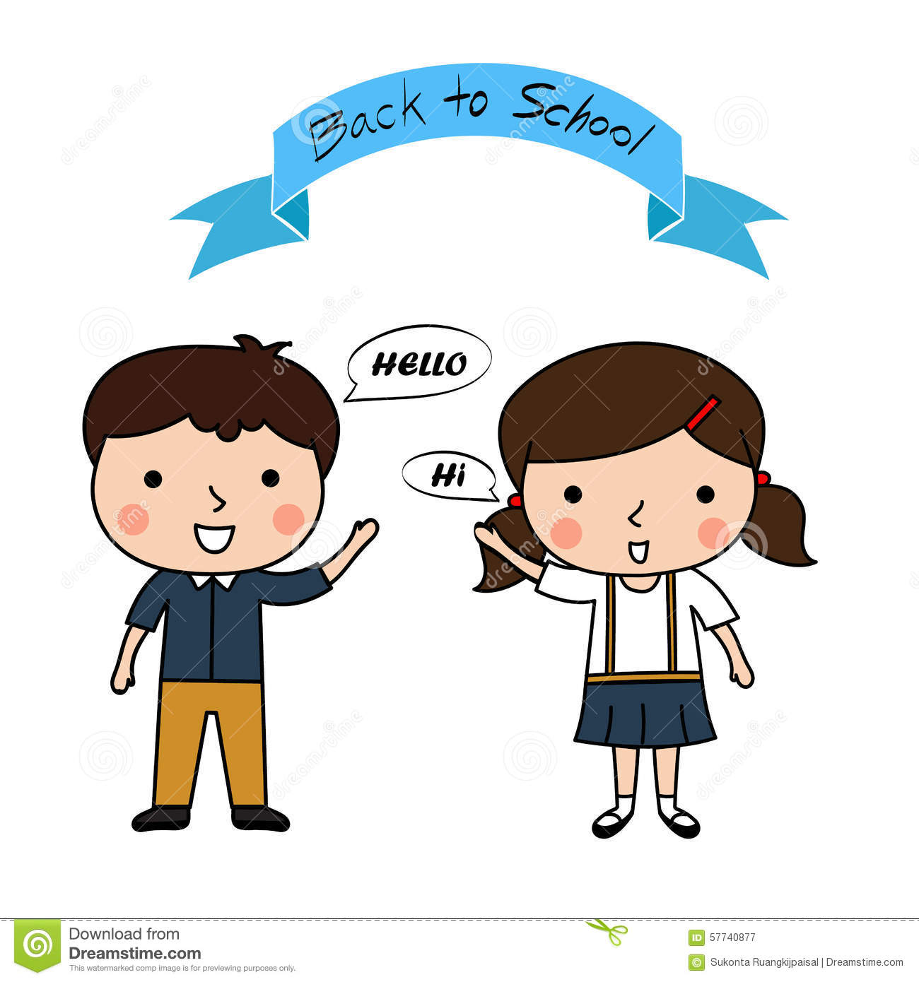 Hello say pencil and. Back clipart vector