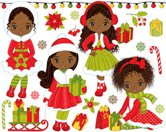 Back clipart vector. To school african christmas