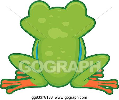 Back clipart vector. Art tree frog drawing