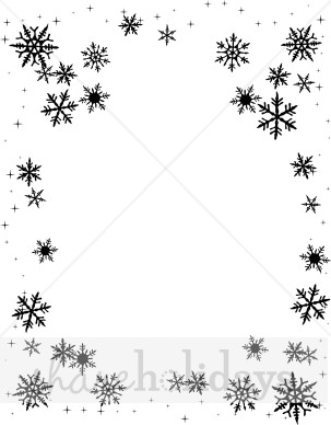 Snowflake snow backgrounds. Background clipart black and white