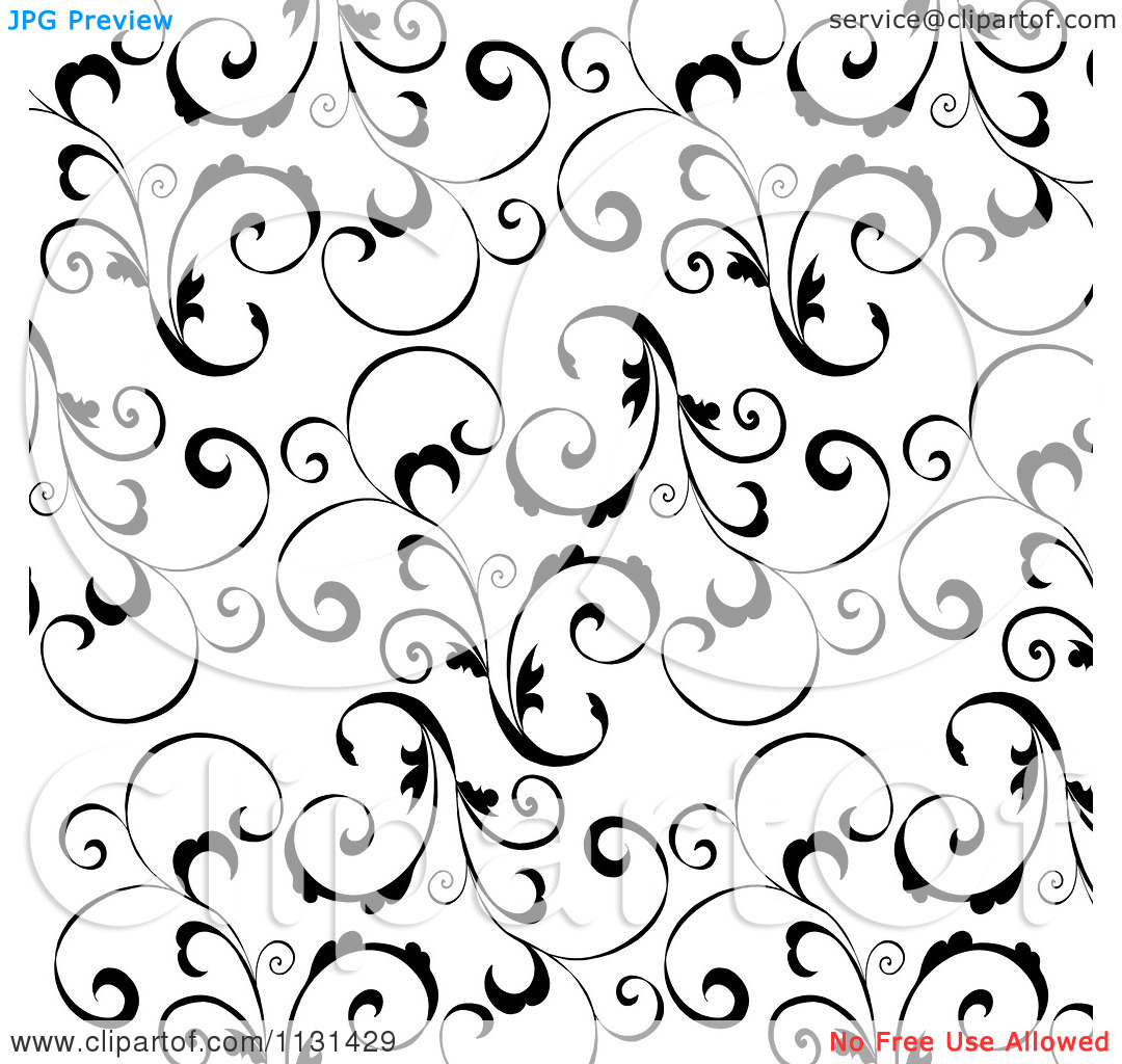 Swirly . Background clipart black and white