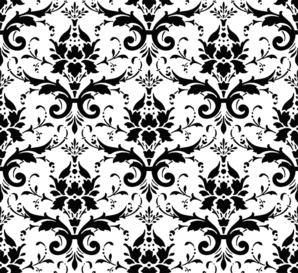 Background clipart black and white. Damask clip art at