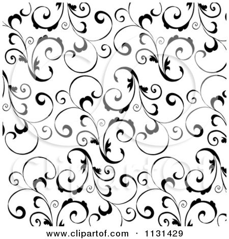 Clipartuse floral pattern inverse. Background clipart black and white