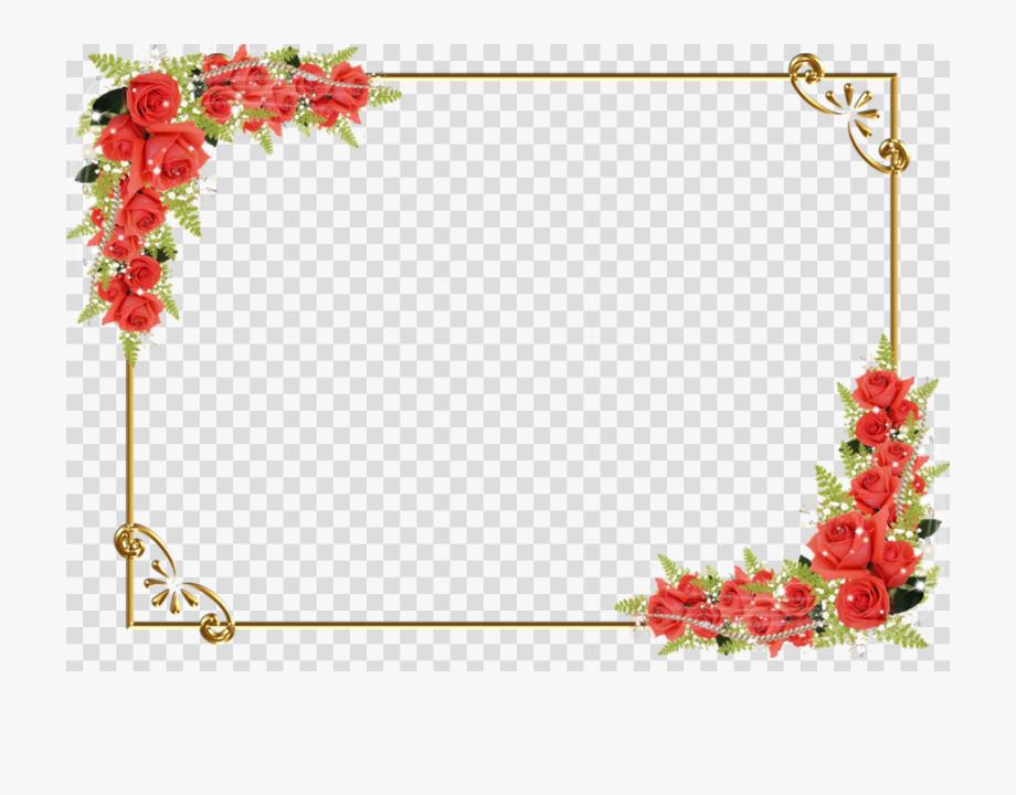 Flower png transparent design. Background clipart border