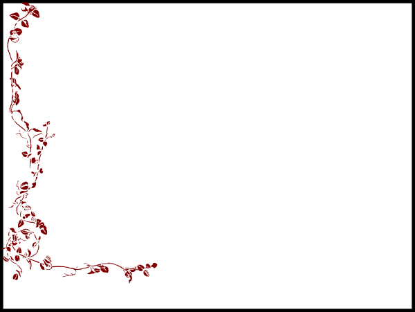 Rose on white clip. Background clipart border