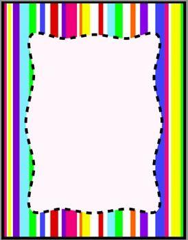Colorful stripes frames borders. Background clipart border