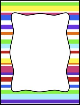 Background clipart border. Colorful stripes frames borders