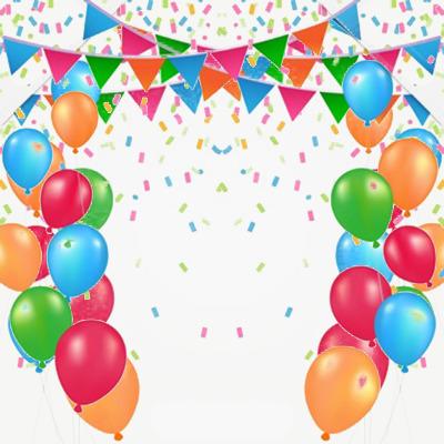 Celebration clipart balloon. Decoration background material celebrate