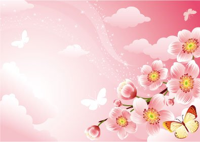 Background clipart cherry blossom. Free and vector graphics