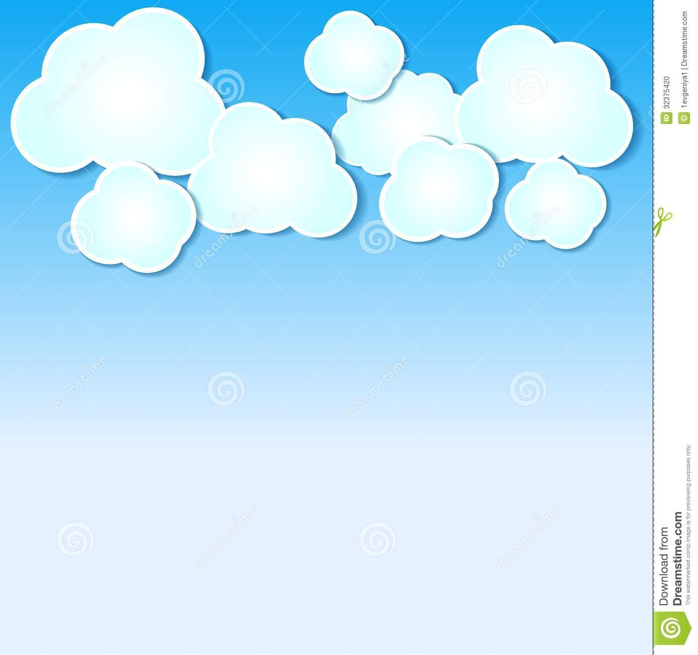 Blue clouds panda free. Background clipart cloud