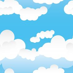 Background clipart cloud. Vector fluffy clouds frame