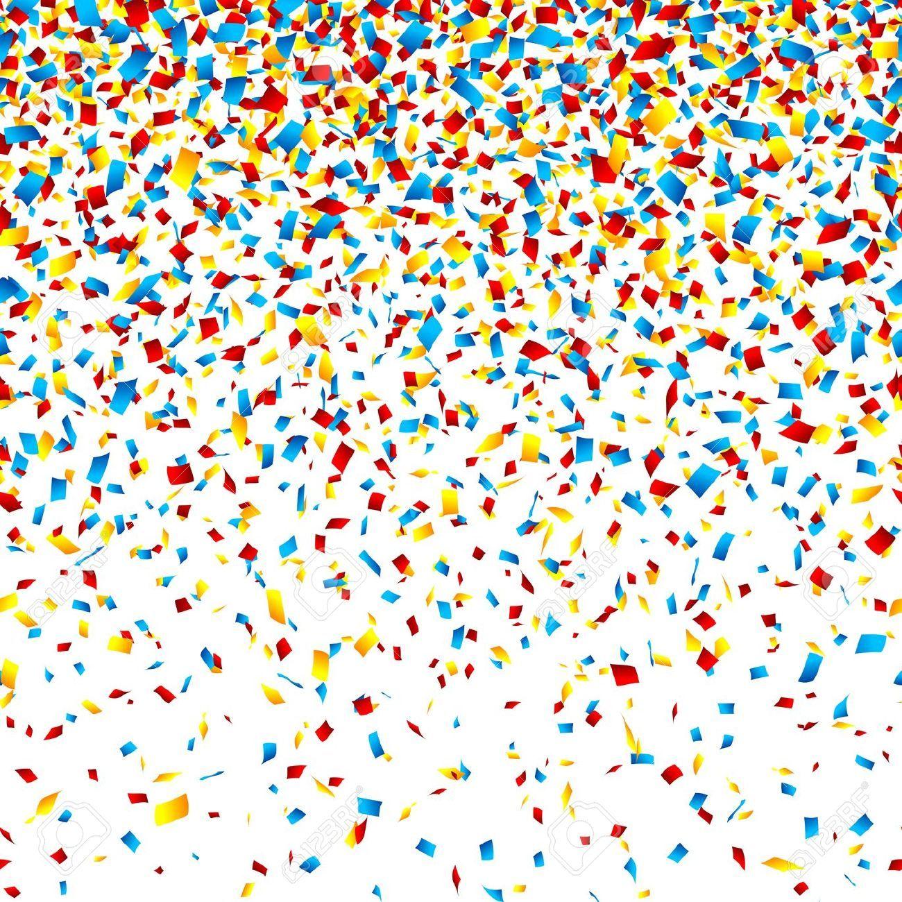 Background clipart confetti. Stock vector illustration and