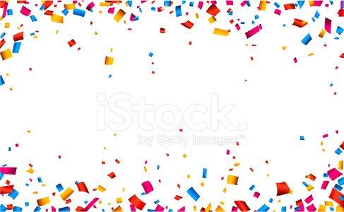Celebration frame premium clipartlogo. Background clipart confetti