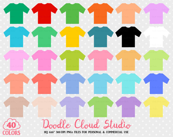 colorful t shirt. Background clipart cute