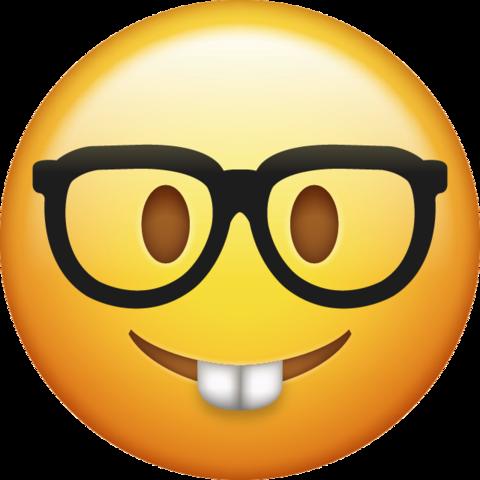 Background clipart emoji. Nerd png transparent