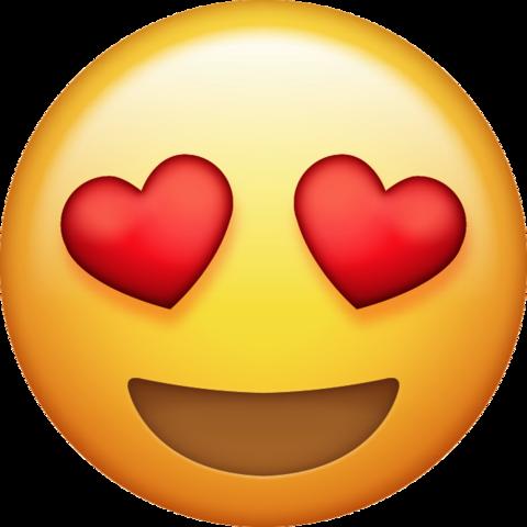 Heart eyes png transparent. Background clipart emoji