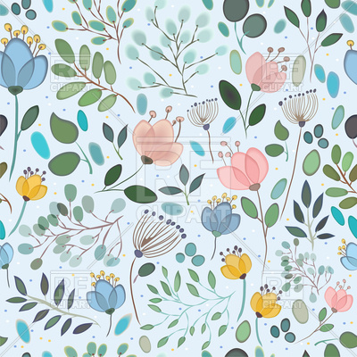 Free elegance seamless pattern. Background clipart floral