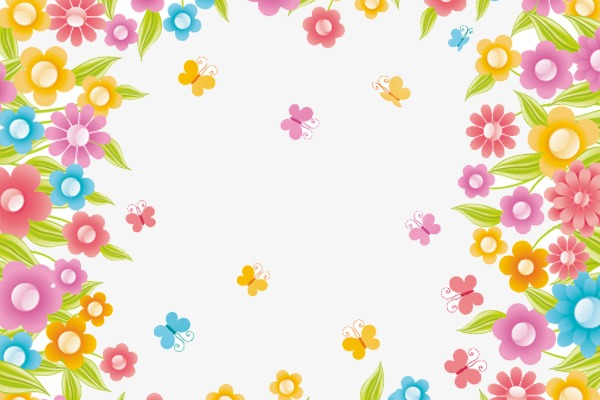Background clipart floral. Beautiful flowers border lace