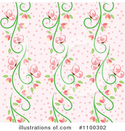 Background clipart floral. Illustration by cherie reve