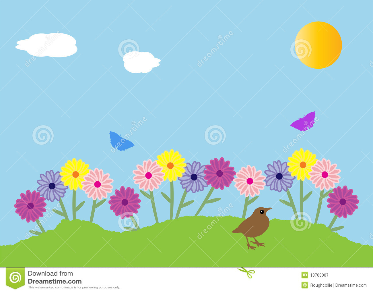 collection of beautiful. Background clipart flower garden