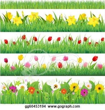 Clip art border cliparts. Background clipart flower garden