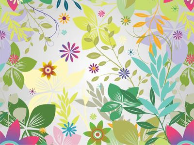 Background clipart flower garden. Free funky colorful and