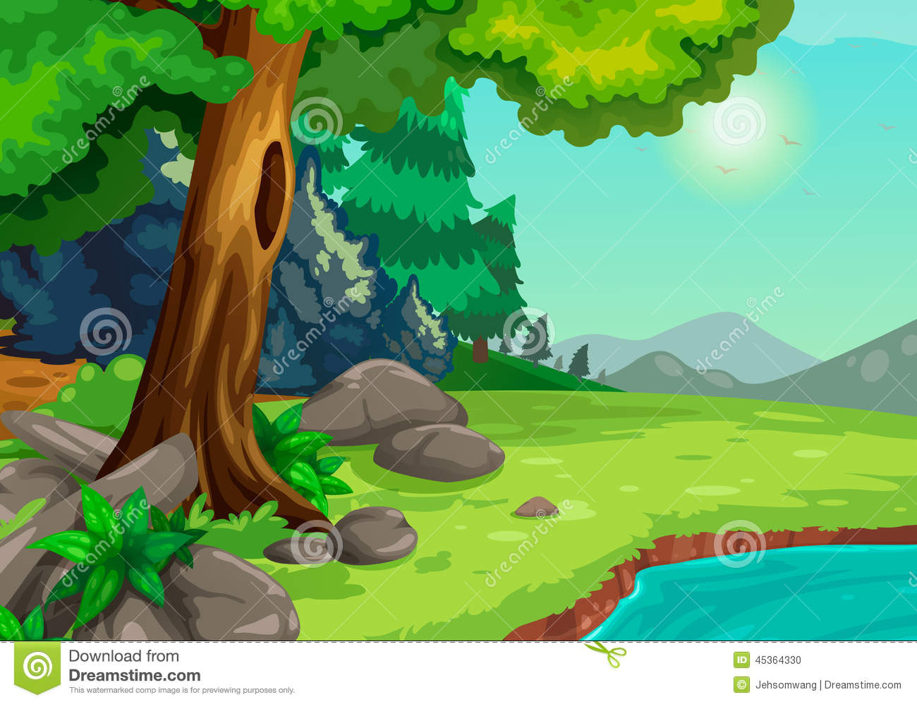 Background clipart forest. Station