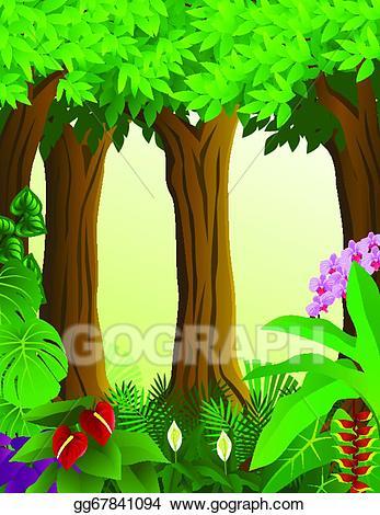 Background clipart forest. Eps illustration vector gg