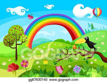 Stock illustration gg gograph. Background clipart forest