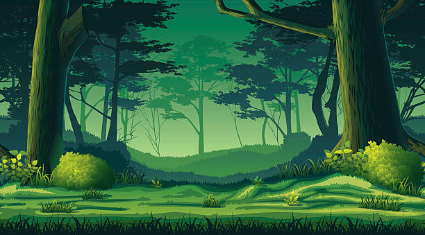 Station . Background clipart forest