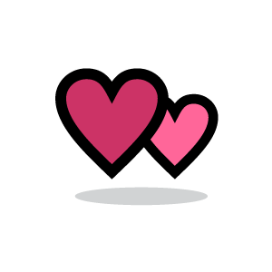 Background clipart heart. Pink couple with white