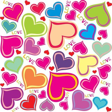 Free cute hearts and. Background clipart heart