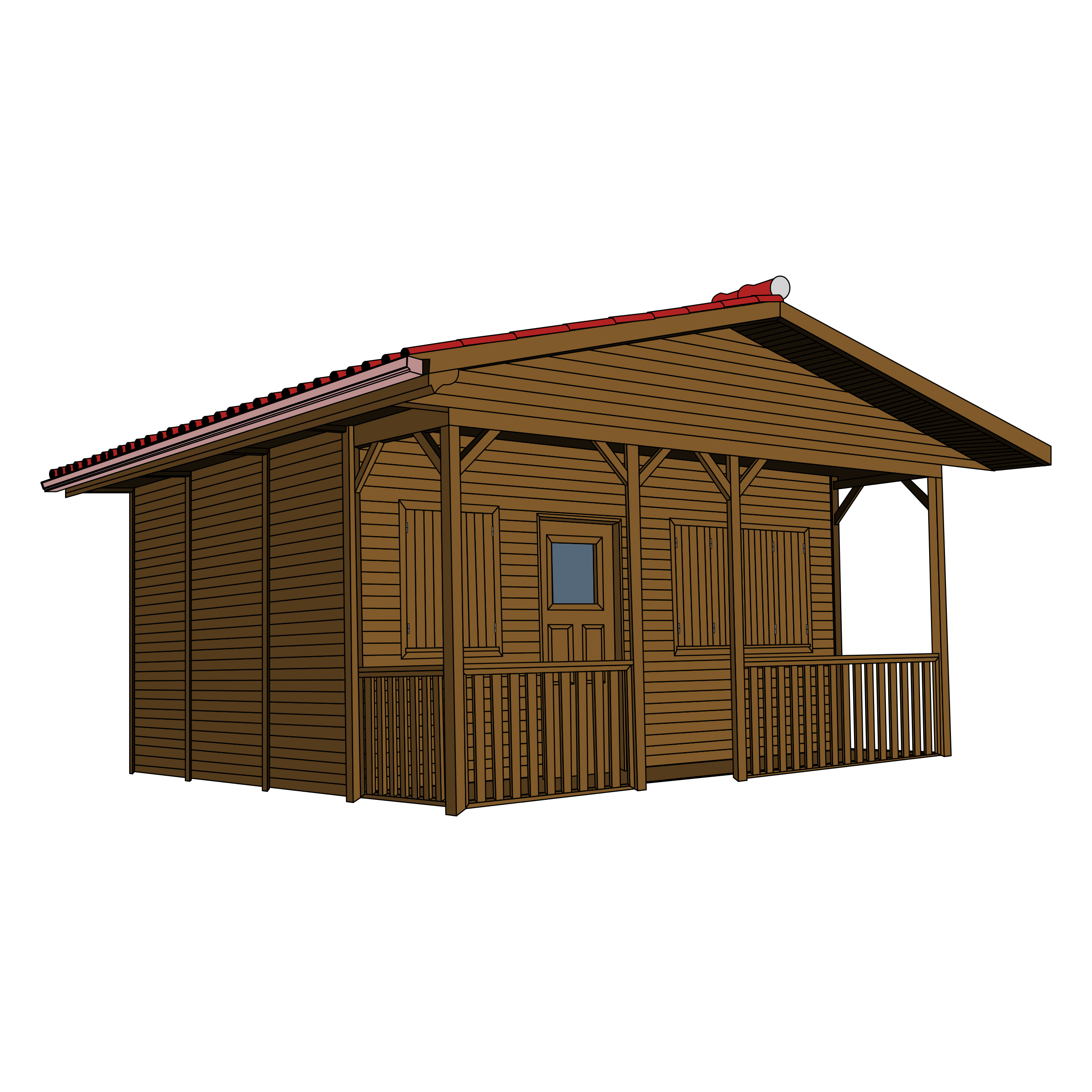 Wooden transparent background mart. Small house png