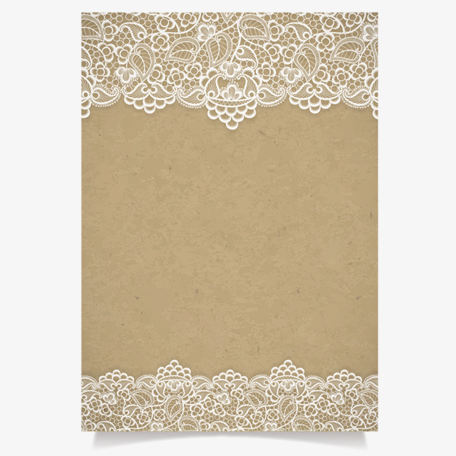Inviting card kraft paper. Background clipart lace