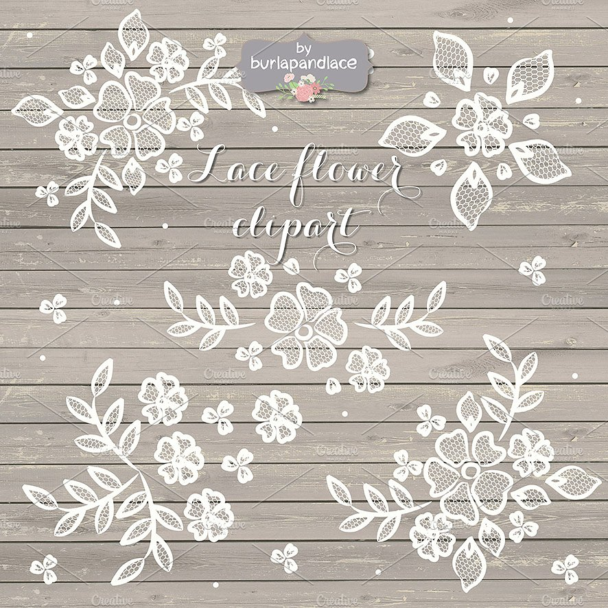 Rustic illustrations creative market. Background clipart lace