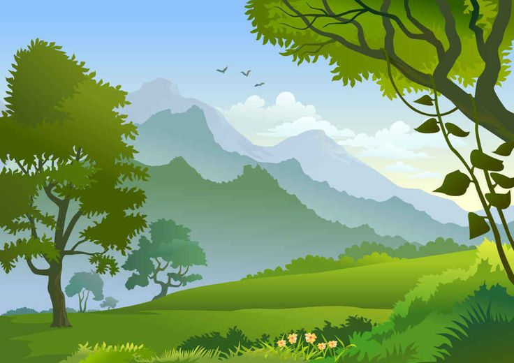 best illustrations mountains. Bushes clipart forest