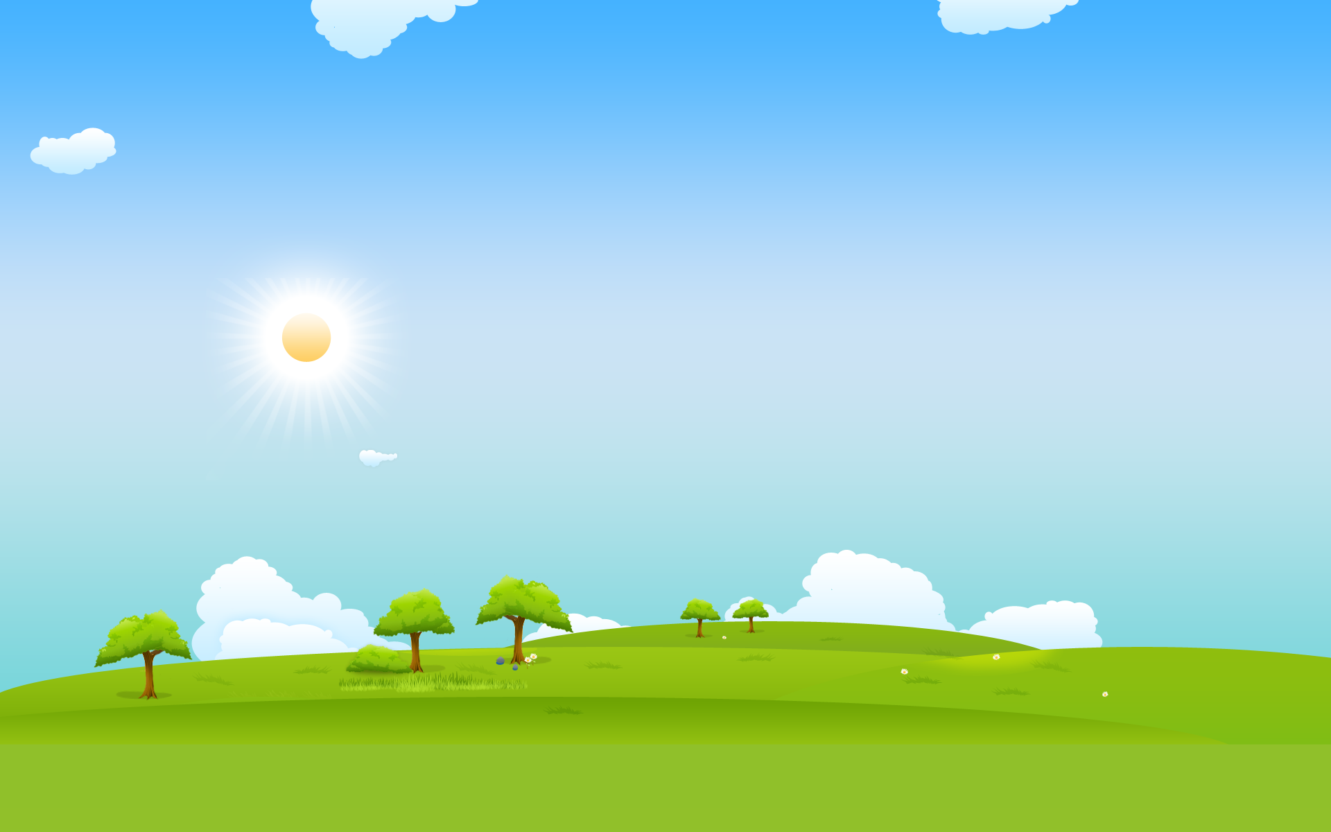 collection of landscape. Sunny clipart field background