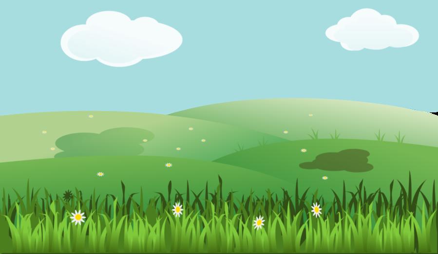 Green grass background sky. Landscape clipart land scape
