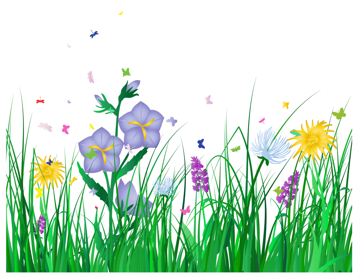 Clipart grass simple. Free transparent spring cliparts
