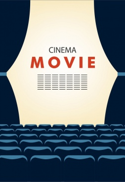 Background clipart movie. Free vector download for